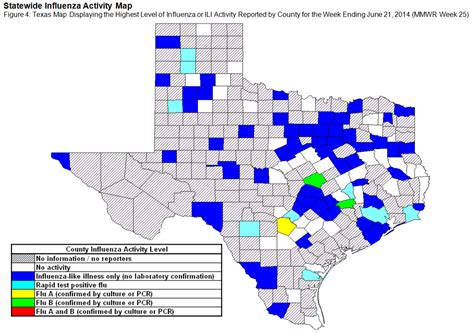 texas flu map 2013 2014 dshs flu report week 25