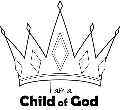 gallery i am a child of god crown