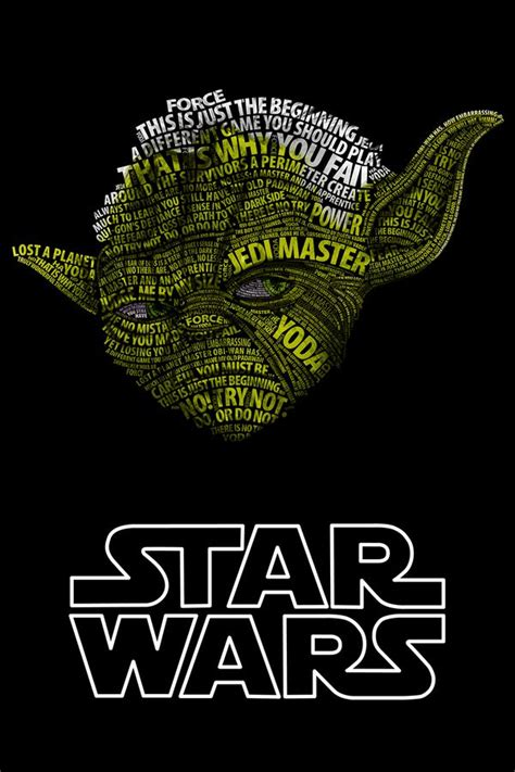 typographic star wars prints featuring iconic characters famous yoda quotes sayings quotesgram