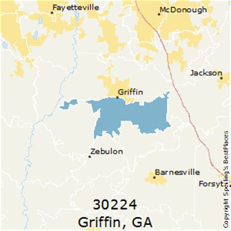 best places to live in griffin zip 30224