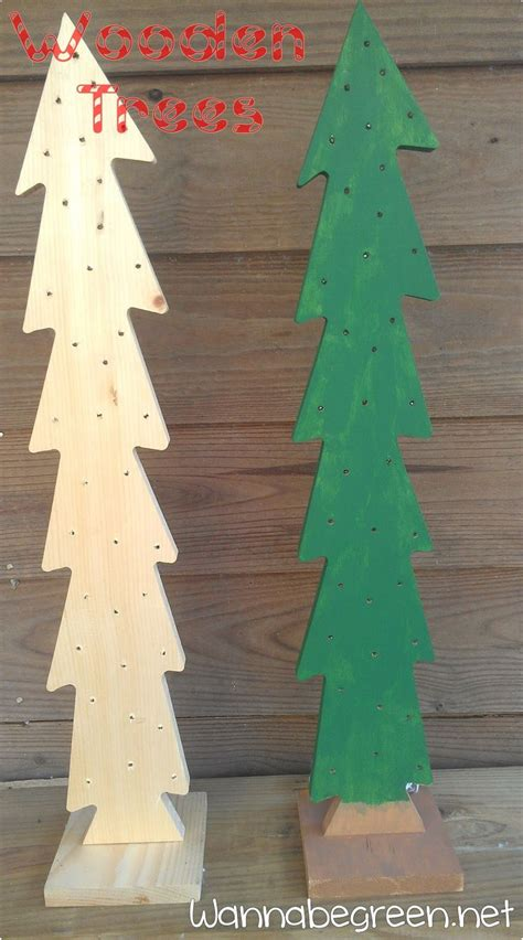 wooden christmas trees christmas pinterest