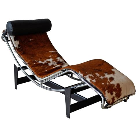 le corbusier chaise lounge chair lc4 le corbusier chaise lounge chair at 1stdibs