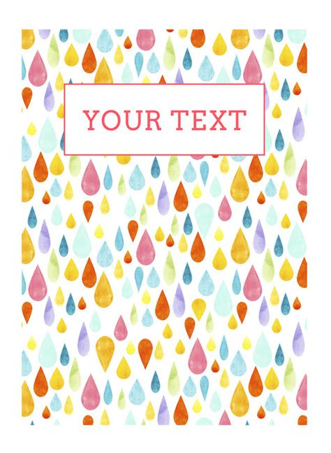 Raindrop Notebook colourful raindrops notebook by cardboardcities