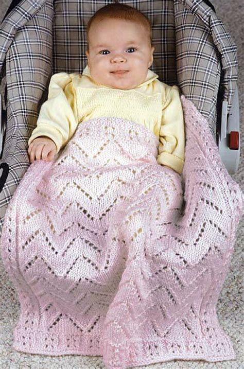 Knitted Car Seat Blanket by On The Go Baby Blanket Knitting Patterns In The Loop