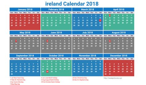 printable monthly calendar 2018 ireland ireland calendar 2018 9 newspictures xyz
