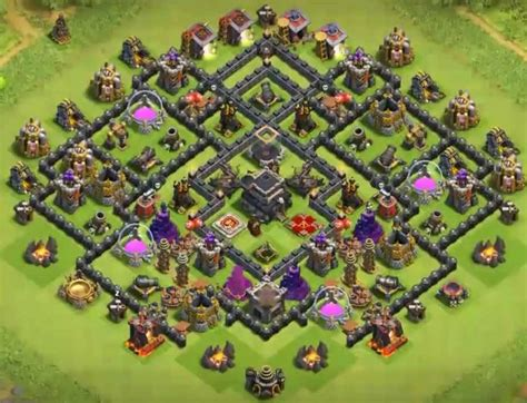 coc effective layout top 50 best th9 bases in the world new 2018 war