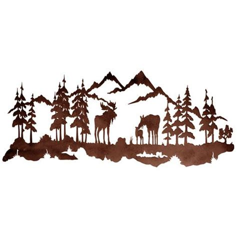 Moose Wall Decor by Moose Family 42 Quot Metal Wall