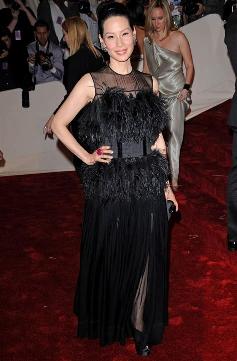 Lucky Liu At The Met Costume Gala With Zac Posen And 35 Carats Of Yellow Sapphires To Left by Liu Photos Photos 2011 Met Costume Institute Gala