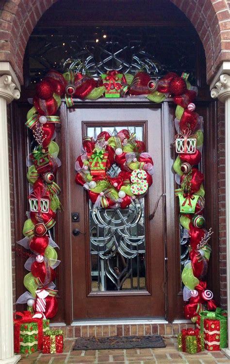 christmas wreath ideas   front door