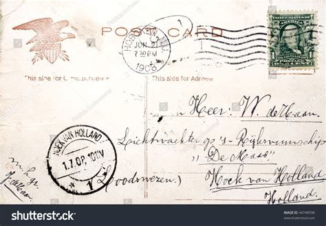 Netherlands Address Search Usa Circa 1908 Vintage Postcard With Address In The