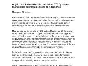 Lettre De Motivation Entreprise Bts Communication Alternance Lettre De Motivation Bts Sp3s Alternance Par Lettreutile
