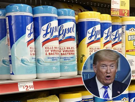lysol forced  warn people  drinking  injecting products  trump suggestion video