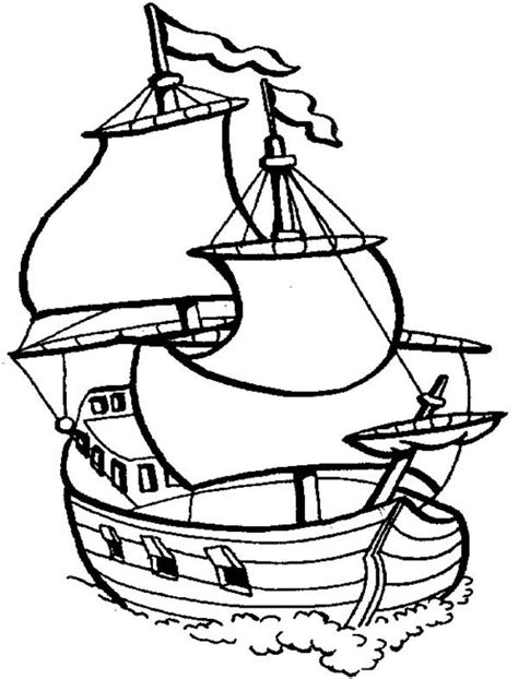 coloring page spanish galleon sailing boat outline coloring pages batch coloring