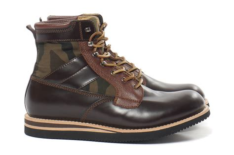 bepositive brown leather army boot hypebeast