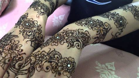 floral bridal henna mehndi youtube
