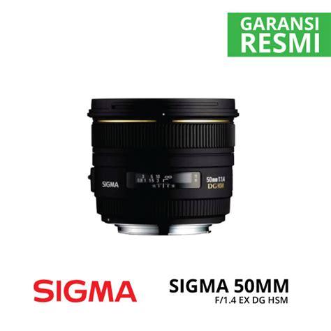 Sigma 50mm F1 4 Dg Hsm jual sigma 50mm f1 4 ex dg hsm harga dan spesifikasi