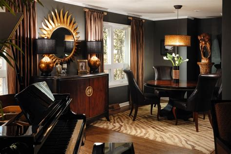 brown home decor decorating with black
