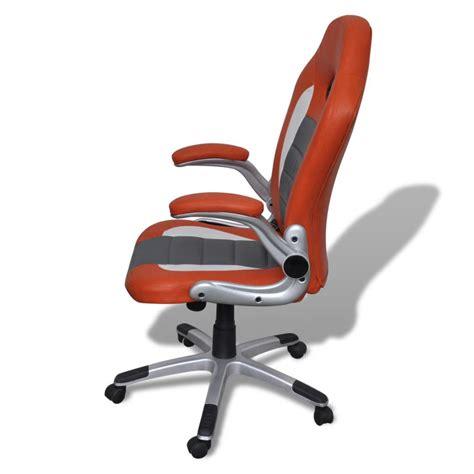 sedia arancione sedia ufficio in pelle design moderno arancione vidaxl it