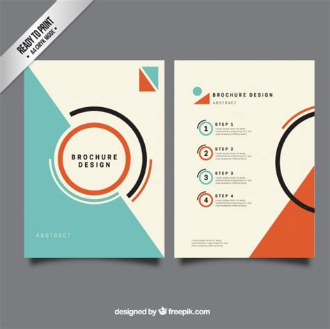 free graphic design template minimalis brochure template vector free