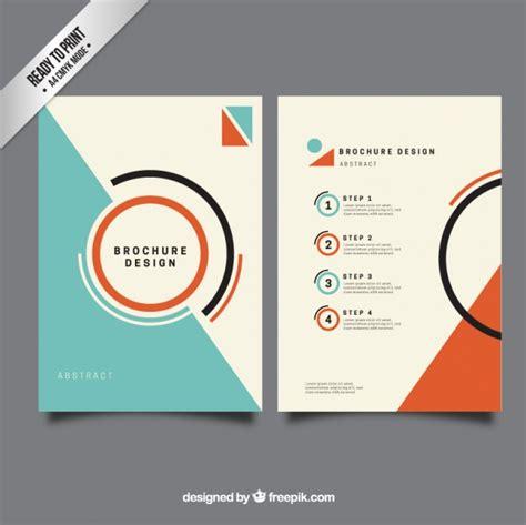 Minimalis brochure template Vector   Free Download