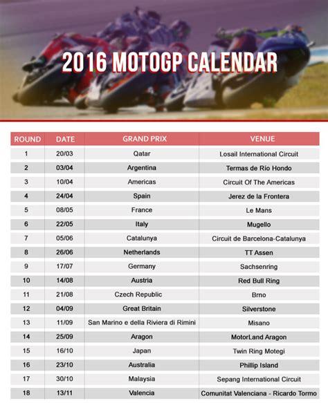 Motogp Calendar Image Gallery Motogp Calendar