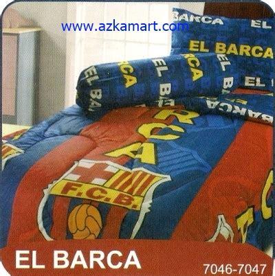Selimut Barca Barcelona sprei karakter toko selimut sprei bedcover murah