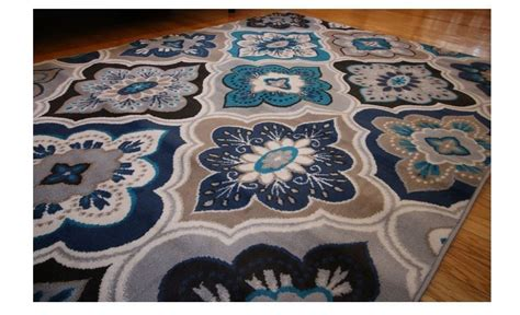 Navy Blue And Beige Area Rugs New 5x7 Blue Beige Coral Navy Grey Throw Rug Navy Living Room Fancy Home Area Rugs