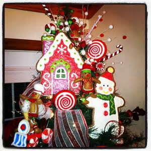gingerbread themed christmas tree gingerbread decor