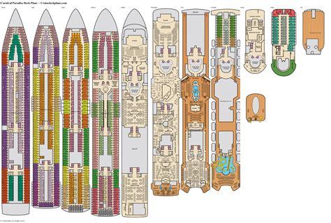 Deck Plan by Carnival Paradise Grand Deck Plan Tour