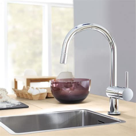 touch activated kitchen faucet grohe 31359dc0 minta touch activated electronic single handle kitchen faucet steel touch