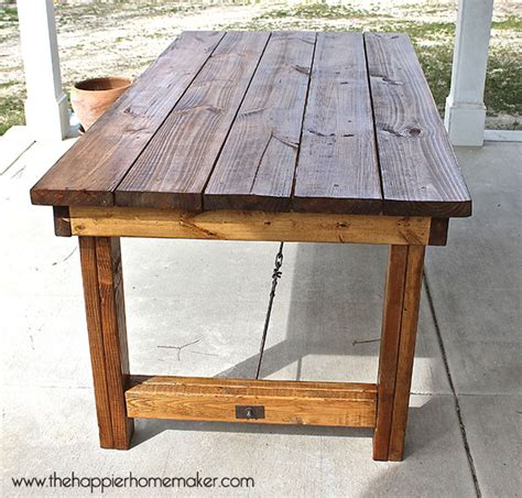 farmhouse table pottery barn diy pottery barn inspired dining table the happier homemaker