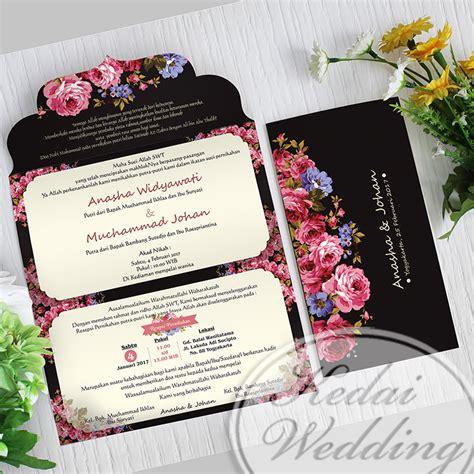 Harga Model Undangan Pernikahan by Undangan Simple Hitam Elegan Undangan Pernikahan