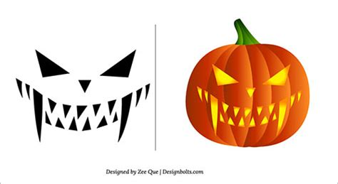 halloween 2013 free scary pumpkin carving patterns ideas stencils