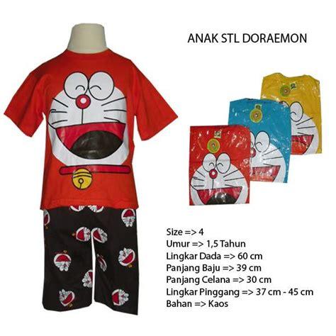 Stelan Baju Tidur 3 4 All Size baju tidur anak setelan doraemon size 4 hanya rp 31 000 00