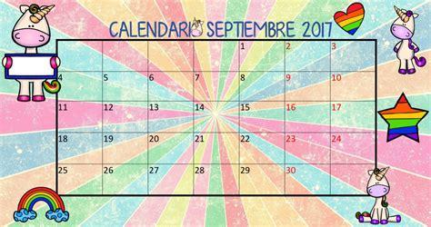 Calendario Septiembre 2017 Editable Calendario De Septiembre De 2017 Unicornios Planifica Tu