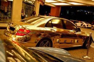 mercedes c63 in dubai gold aol cars uk