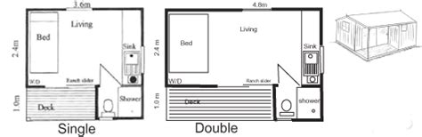 sleep out floor plans super sleepout plan no 1 no 2 super cabins