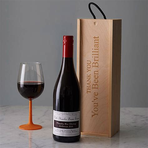thank you letter wine gift personlised thank you wine box by intervino