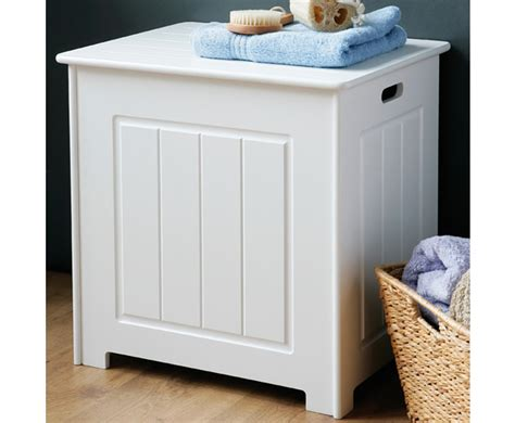 bathroom ottoman storage warwick white wooden blanket box free uk delivery