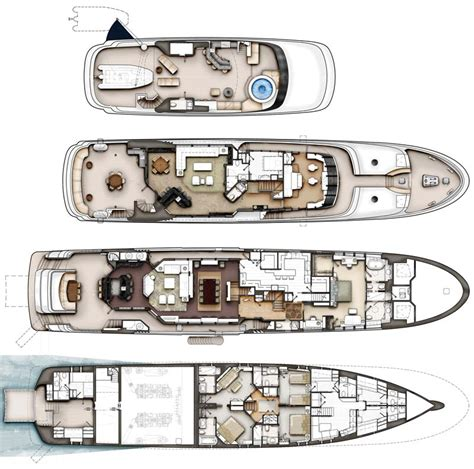 yacht floor plan review crescent 144 tri deck superyacht yachtforums com