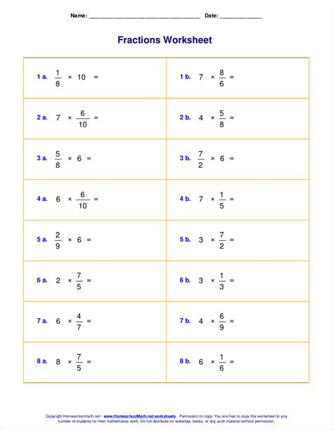 Multiplying Fractions By Whole Numbers Worksheet by Worksheets For Fraction Multiplication