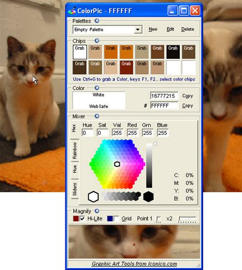 color pic colorpic the windows color picker software tool
