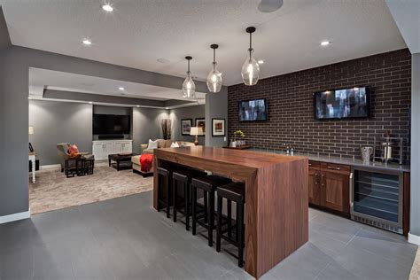 basement bar designs with floating shelves home bar