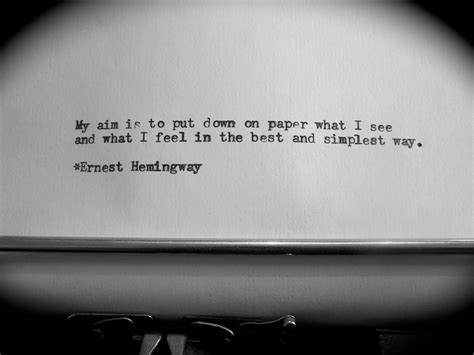 Just Like A Writer At The View by Quotes Ernest Hemingway Quotesgram