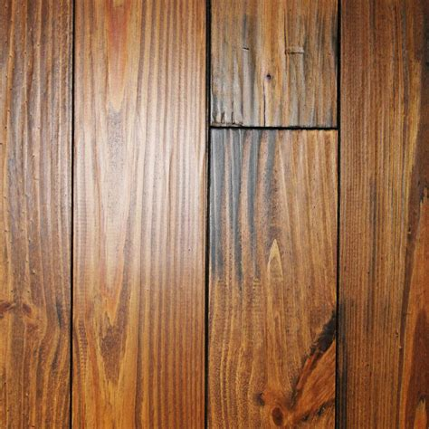 1 Thick Hardwood Flooring - scraped roasted pine 3 4 in thick x 5 1 8 in wide x