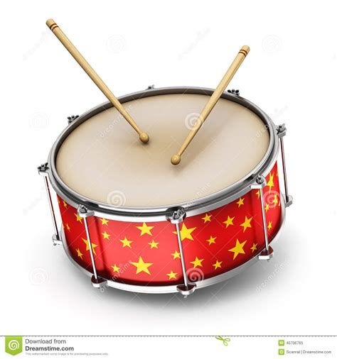 Musical Drum by Drum With Drumsticks Stock Illustration Image 45706765