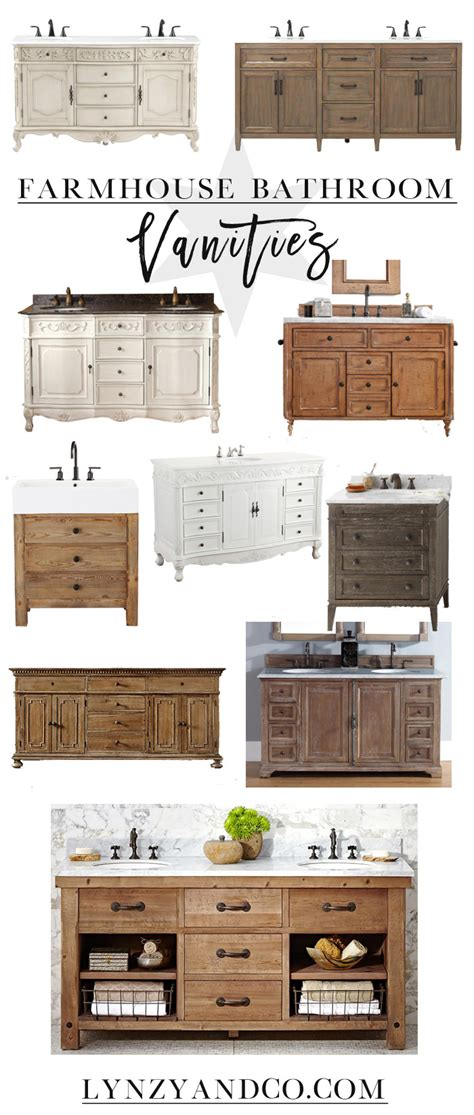 best farmhouse bathroom vanities lynzy co