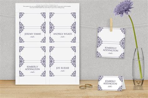 avery place card template wedding place card template by diyweddingtemplates