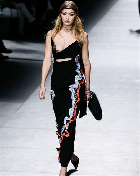 Runway Models Wardrobe Malfunction by Gigi Hadid Suffered Every Model S Worst Nightmare As She