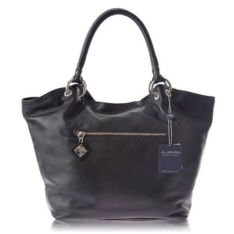 Barbar A2 Bags Bambalina Barbar Black arcadia italian designer black leather tote handbag